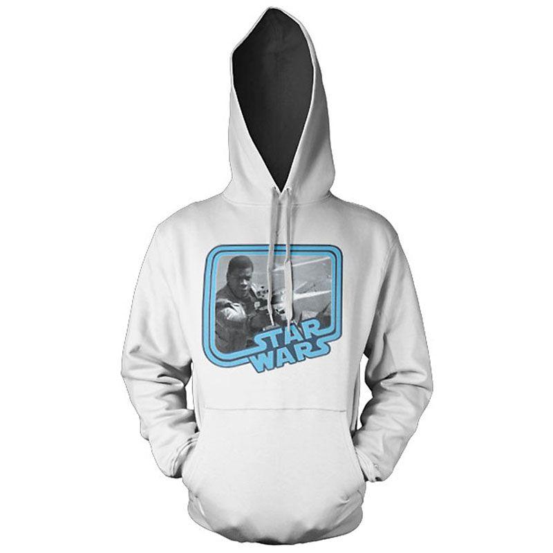 Bílá mikina s kapucí Star Wars Episode VII Finn Licenced