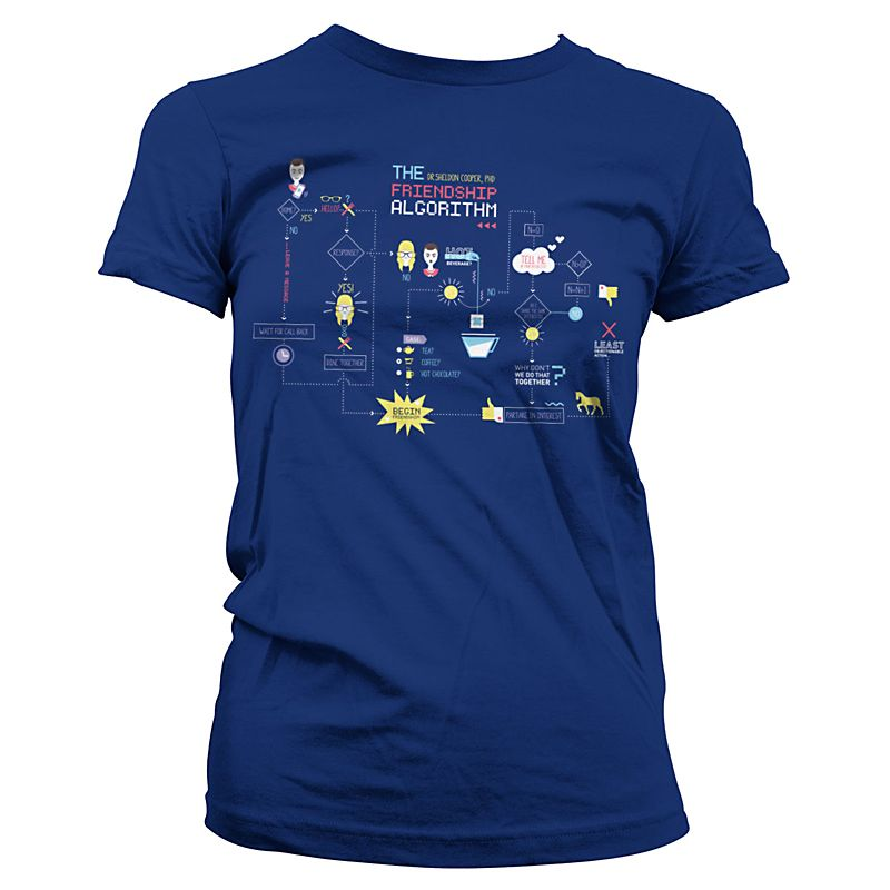 Dámské tričko The Big Bang Theory The Friendship Minions Algorithm Licenced
