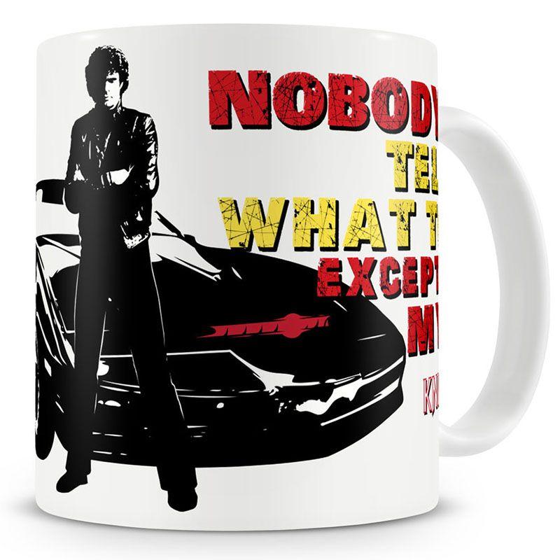 Hrnek s potiskem Knight Rider Nobody Tells Me Licenced