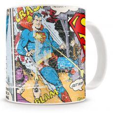 Superman hrnek Distressed Comic Strip