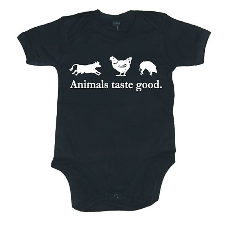 Kojenecké body Animals Taste Good černé Licenced