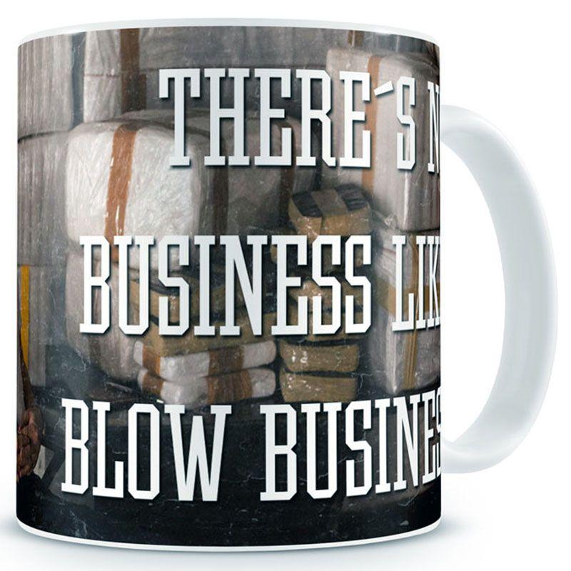 Narcos hrnek s potiskem Blow Business
