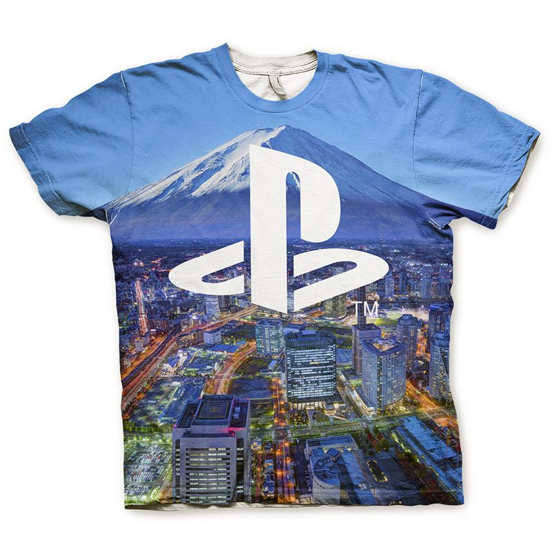 Playstation pánské tričko Allover Licenced