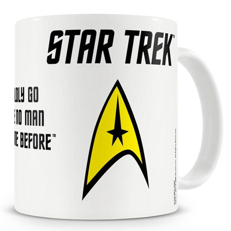 Star Trek hrnek s potiskem Boldly