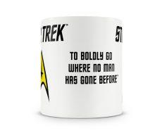 Star Trek hrnek s potiskem Boldly Licenced