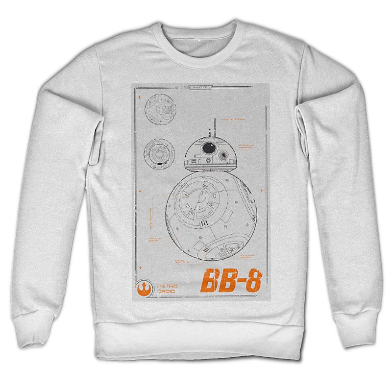 Star Wars Episode VII mikina BB-8 Blueprint Licenced
