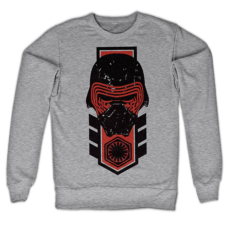 Šedá mikina Star Wars Episode VII Kylo Ren Distressed Licenced