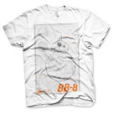 Star Wars VII pánské tričko BB-8 Blueprint