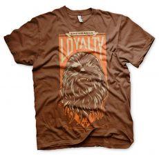 Star Wars VII pánské tričko Chewbacca Loyalty
