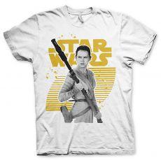 Star Wars VII pánské tričko Rey Gold Logo