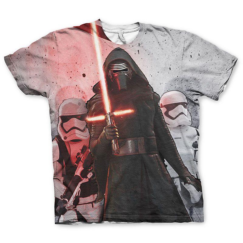 Star Wars tričko s Allover potiskem Kylo Ren Licenced