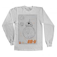 Tričko s rukávem Star Wars BB-8 Blueprint
