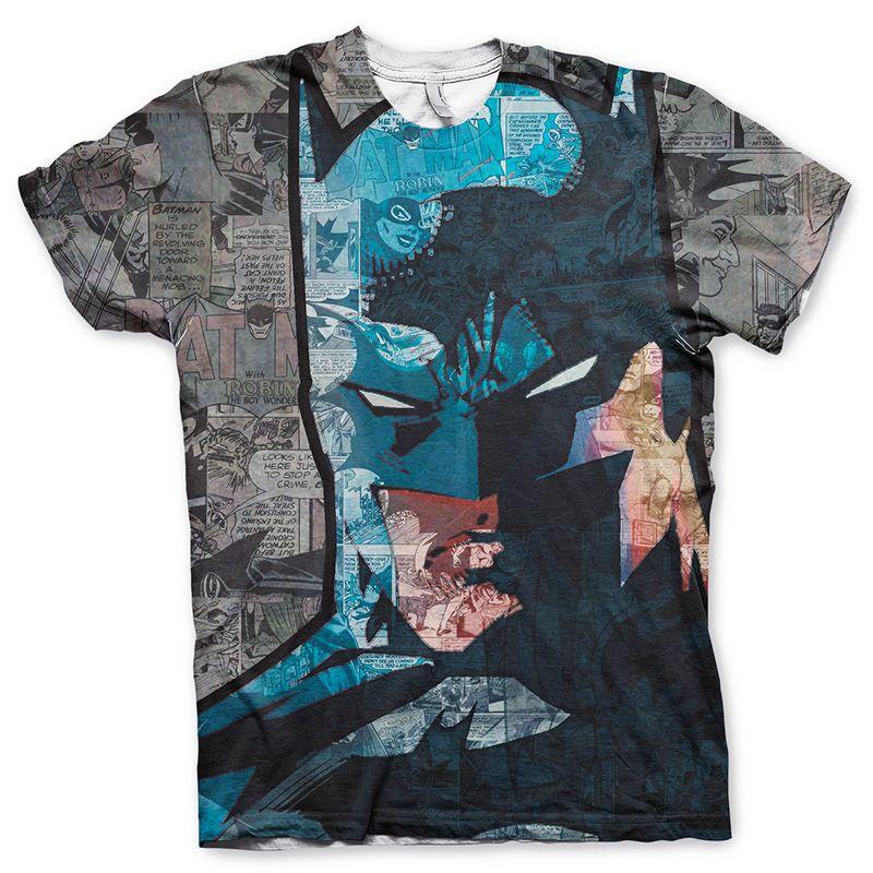 Tričko s Allover potiskem Batman Face-Up Licenced