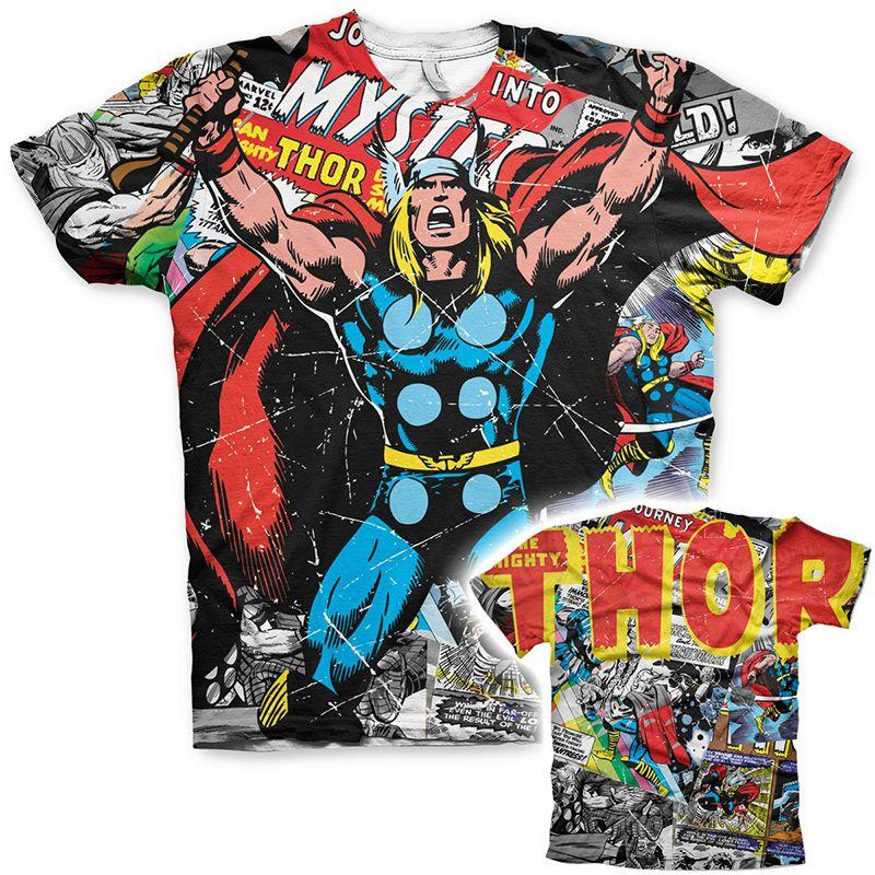 Tričko s potiskem Allover Thor Comics Licenced