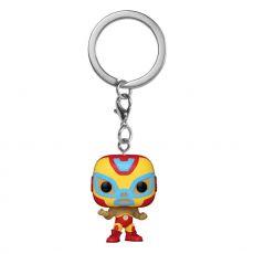 Marvel Luchadores Pocket POP! vinylová Přívěsky na klíče 4 cm Iron Man Display (12)