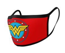 Wonder Woman Face Masks 2-Pack Logo