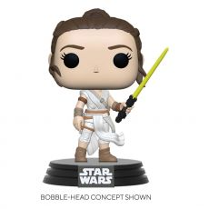 Star Wars Episode IX POP! Movies vinylová Figure Rey w/ Yellow Saber 9 cm