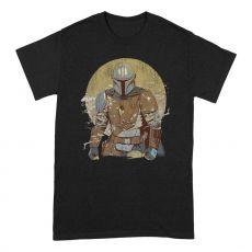 Star Wars The Mandalorian Tričko Distressed Warrior Velikost M