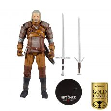 The Witcher Akční Figure Geralt of Rivia Gold Label Series 18 cm