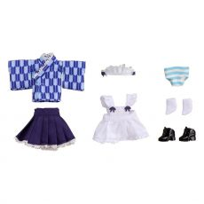 Original Character Parts for Nendoroid Doll Figures Outfit Set Japanese-Style Maid Blue
