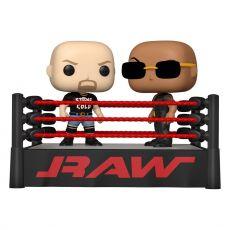 WWE POP Moment! vinylová Figures 2-Pack The Rock vs Stone Cold in Wrestling Ring 9 cm
