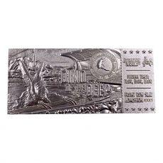 Jurassic Park Replika Mosasaurus Ticket Ticket (silver plated)