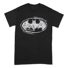 Batman Tričko Sketch Logo Velikost L