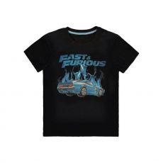 Fast & Furious Tričko Blue Flames Velikost L