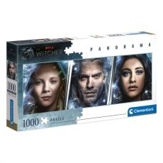 The Witcher Panorama Jigsaw Puzzle Faces (1000 pieces)