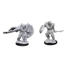 D&D Nolzur's Marvelous Miniatures Unpainted Miniatures Dragonborn Fighter Male Case (2)