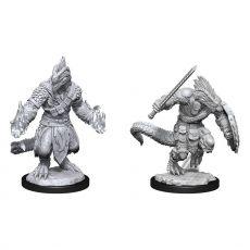 D&D Nolzur's Marvelous Miniatures Unpainted Miniatures Lizardfolk Barbarian & Cleric Case (2)