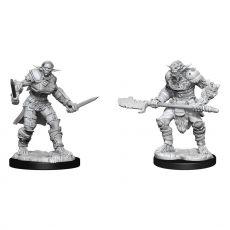 D&D Nolzur's MM Unpainted Miniatures Bugbear Barbarian Male & Bugbear Rogue Female Case (2)