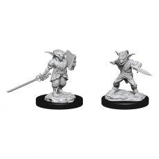 D&D Nolzur's MM Unpainted Miniatures Male Goblin Rogue & Female Goblin Bard Case (2)