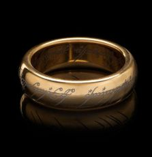 Lord of the Rings Tungsten Ring The One Ring (gold plated) Velikost 08