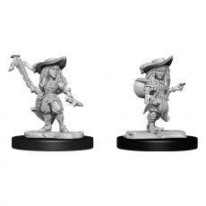 Pathfinder Battles Deep Cuts Unpainted Miniatures Gnome Bard Female Case (2)