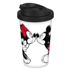 Disney Cestovní Hrnek Mickey Kiss Sketch