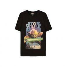 Star Wars Tričko Yoda Plakát Velikost S