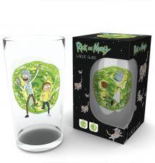 Rick and Morty Skleněná Pinta Glass Portal