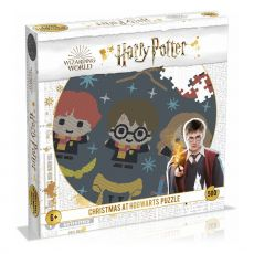 Harry Potter Jigsaw Round Puzzle Christmas Jumper 3 - Christmas at Bradavice (500 pieces)