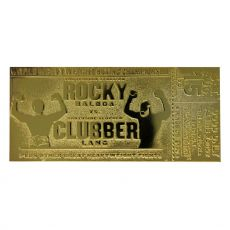 Rocky III Replika World Heavyweight Boxing Championship Ticket (gold plated)