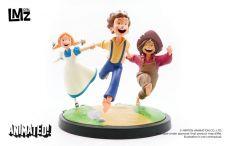 The Adventures of Tom Sawyer Animated! Soška Tom, Huck & Becky 23 cm