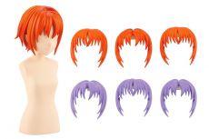 Sousai Shojo Teien Model Kit Accesoory Set 1/10 After School Short Wigs Type A Orange & Purple