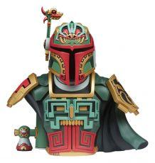 Star Wars Urban Aztec vinylová Bysta Boba Fett by Jesse Hernandez 20 cm
