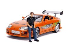Fast & Furious Kov. Model 1/18 1995 Toyota Supra with Figure Brian with Light-Up Function
