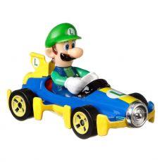 Mario Kart Hot Wheels Kov. Vehicle 1/64 Luigi (Mach 8) 8 cm