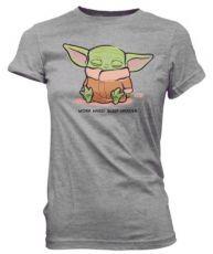 Star Wars The Mandalorian Loose POP! Tees Dámské Tričko Cute Child Sleeping Velikost XL