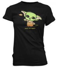 Star Wars The Mandalorian Loose POP! Tees Dámské Tričko Cute Child Force Velikost L