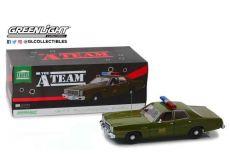A-Team Kov. Model 1/18 1977 Plymouth Fury U.S. Army Police Colonel Roderick Decker