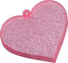 Nendoroid More Face Parts Case for Nendoroid Figures Heart Pink Glitter Verze