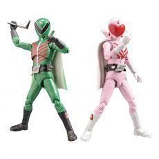 Himitsu Sentai Gorenger Hero Akční Figures Momorenger & Midorenger 17 cm
